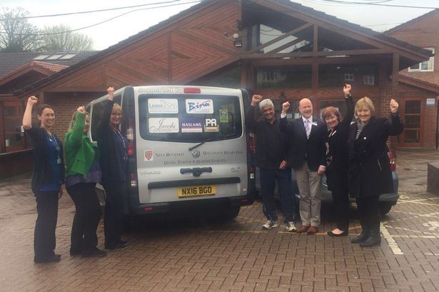 Specially adapted minibus donated to Sue Ryder hospice in Tilehurst