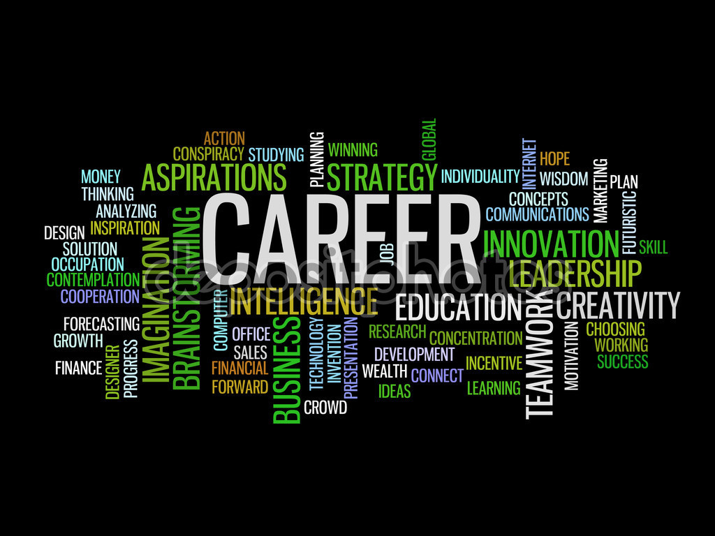 business career concept word cloud